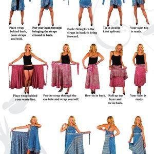 Iris Impressions Skirts - Iris Impressions Convertible Wrap L